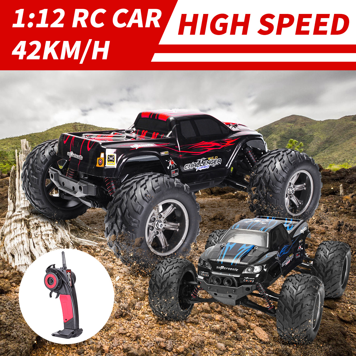 2.4GHz Radio Remote Control RC Cars 42KM/H High Speed Racing Car Climbing RC Electric Toys Car Off Road Truck 1:12 RC Drift Cars 1 24 4wd high speed rc racing car bg1510 rc climber crawler electric drift car remote control cars buggy off road racing model