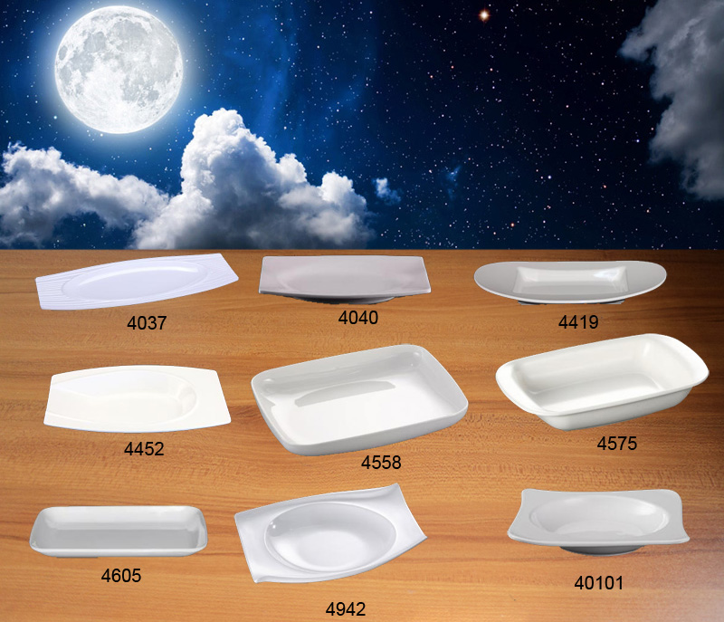 Melamine Dinnerware Dinner Plate Rectangle Deep Plate Western Restaurant Soup Plate A5 Melamine Dishes Melamine Tableware