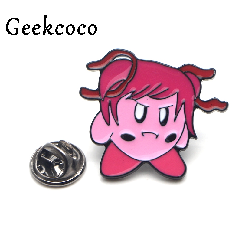 Doki Doki Literature Club minika Zinc Alloy tie cartoon Pins backpack clothes brooch for women hat decoration badges medal J0111 in Brooches from Jewelry Accessories