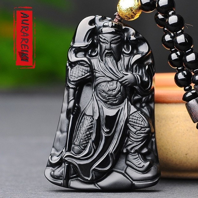 Guan Yu Loyalty Obsidian Pendant