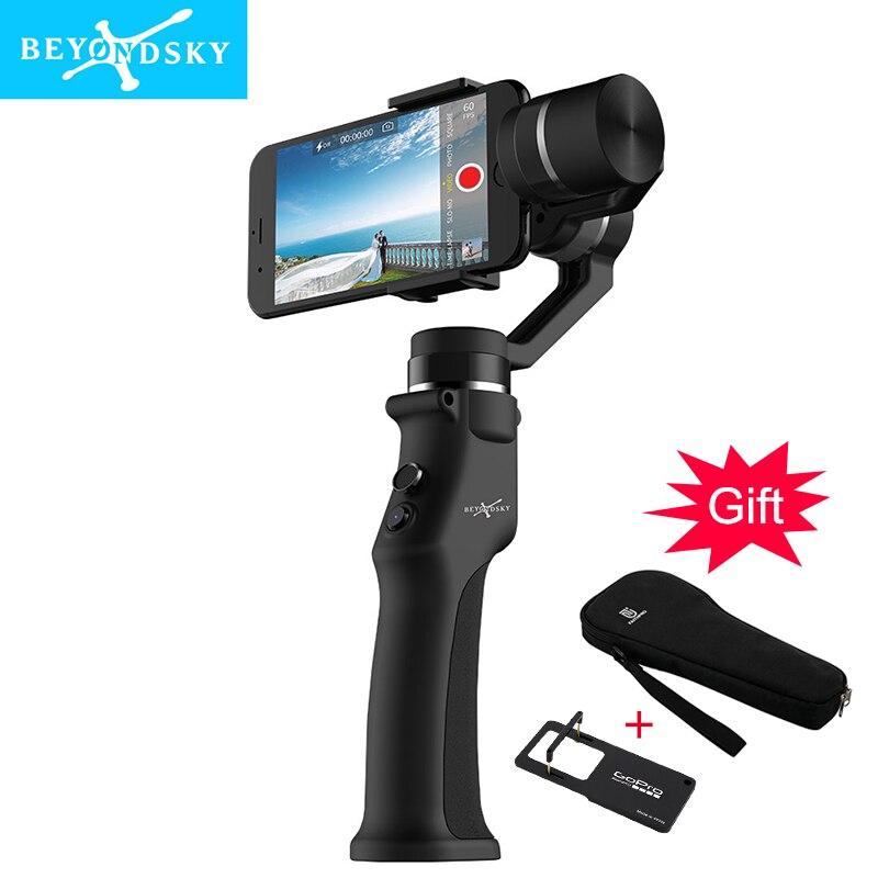 Beyondsky Eyemind Smartphone De Poche Cardan 3-Axe Stabilisateur pour iPhone 8 X Xiaomi Samsung D'action Caméra VS Zhiyun Lisse Q