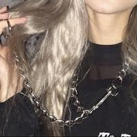 9424f0fba485 Punk Rock Men Women Unisex Chain Metal Choker Collar Long Link Leash  Necklace Cosplay Role Play. Punk Rock hombres mujeres Unisex cadena de ...