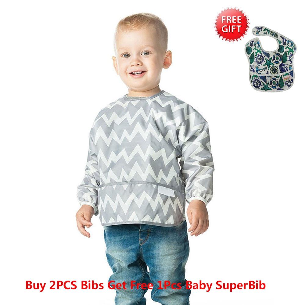 Ohbabyka בייבי Bibs Waterproof יילוד גיהוק בגדים 2018 מותג Baby Slabbers התינוק אכילה האכלה אופנה בייבי ביב שרוול ארוך