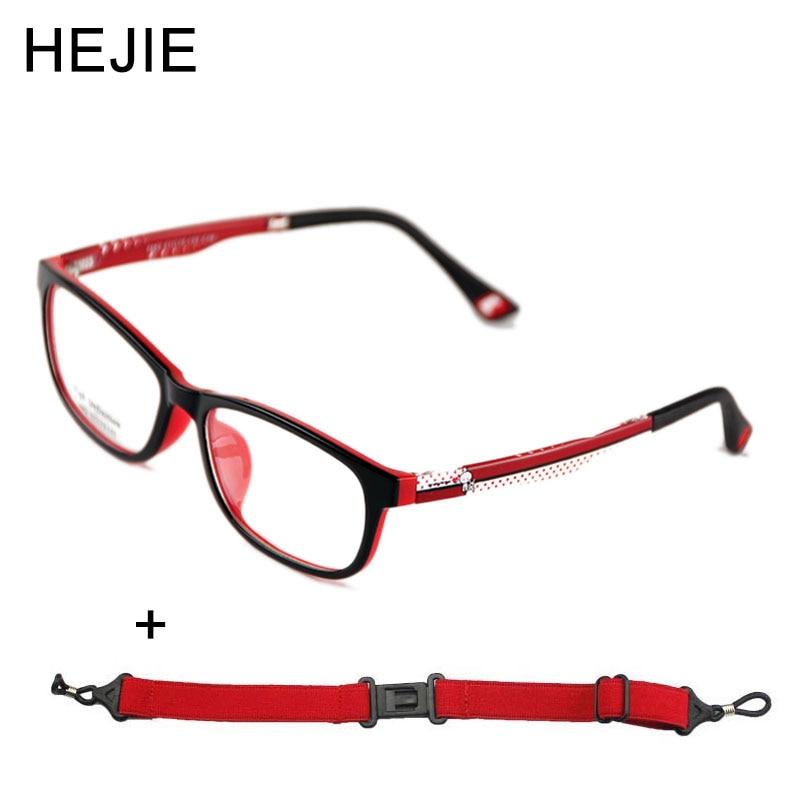 كلاسيك كيدز TR90 نظارات إطارات عدسة واضحة مريحة للبنين بنات أطفال الطلاب مع سلسلة الحجم 51-15-133mm Y1158