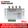 CCTV 4CH Channel Passive Balun BNC to UTP RJ45 Camera DVR Balun UTP Transceiver  5pcs/lot