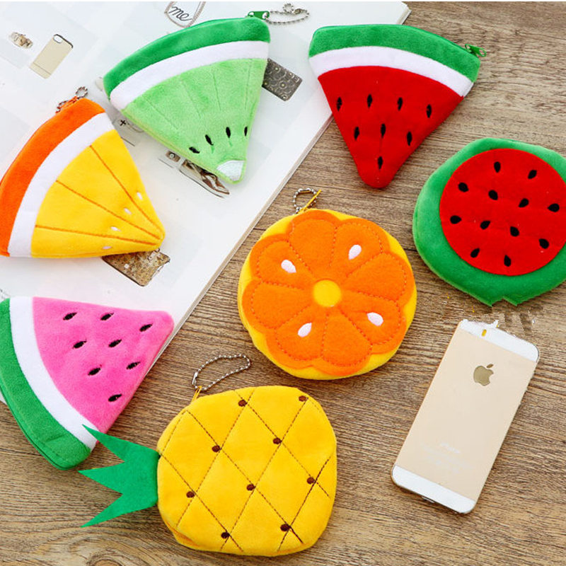 ALL-Summer-Fruits-Toys-Lemon-Watermelon-Etc-Plush-Toy-Pocket-Purse-keychain-plush-Toy