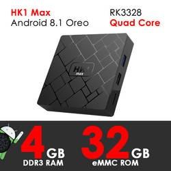 Smart ТВ Box Android 8,1 Oreo XGODY HK1 Max 4 ядра 4 Гб Оперативная память 32 ГБ Встроенная память телеприставке 4 K HD ТВ ресивер стример Media Player H.265