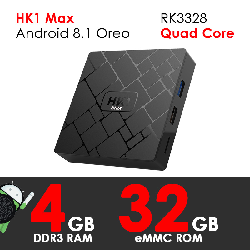цена Smart TV Box Android 8.1 Oreo XGODY HK1 Max Quad Core 4GB RAM 32GB ROM Set top Box 4K HD TV Receiver Streamer Media Player H.265