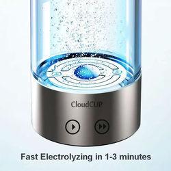 Japanese Titanium Quality Hydrogen-Rich Water Cup Ionizer Maker/Generator TWO modes super antioxidants ORP hydrogen bottle 480ml