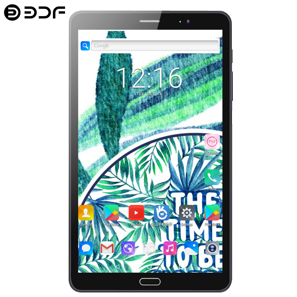 BDF 8 Inch Tablet Pc 4G Phone Call 4GB+64GB Android 7.0 Octa Core 3G/4G LTE Phone Tablet Dual SIM Card IPS 1920*1200 Screen Tab