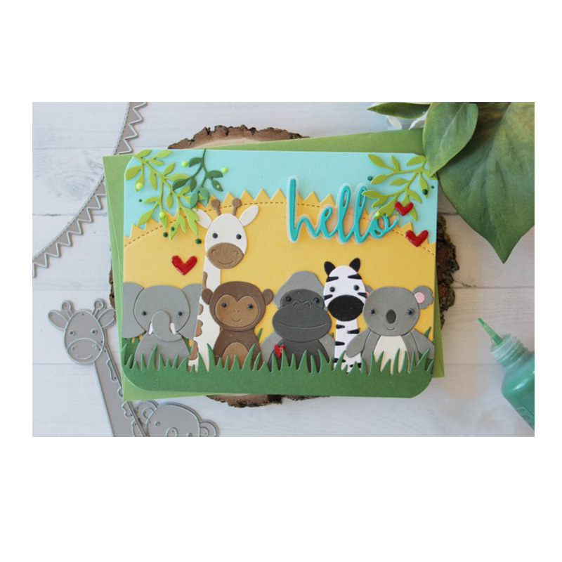 Cute Cartoon Zebra Heart Metal Die Cuts Cutting Dies For DIY Scrapbooking Album Embossing Paper Cards Decorative Crafts New 2018 ...