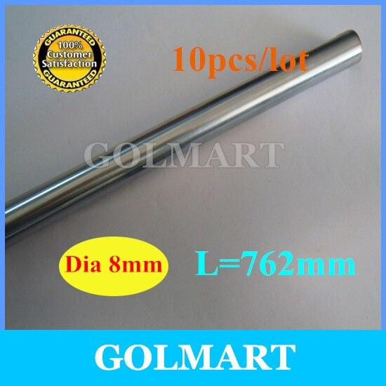 Линейный вал 10 шт. диаметр 8 мм-L 762 мм Линейный вал хромированная точность закаленный стержень