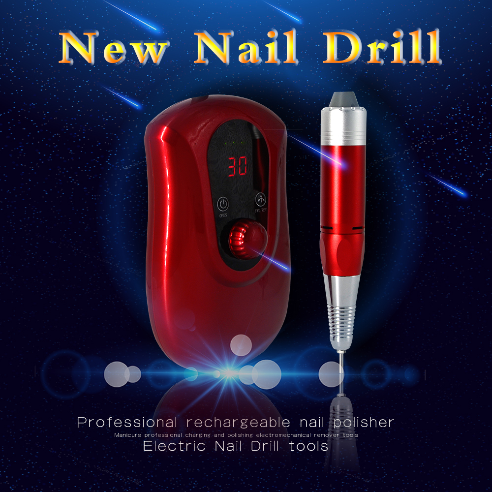 Nail Tools Portable Rechargeable Electric Nail Drill Machine Cordless Manicure Pedicure Set Nail Polishing Machine