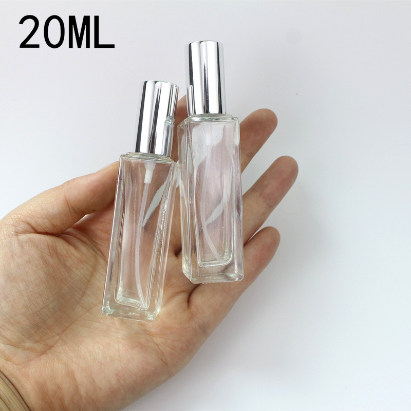 5ml 10ml 20ml 30ml Transparent Thin Glass Spray Bottle Sample Glass Vials Portable Mini Perfume Atomizer Gold Silver black Cap