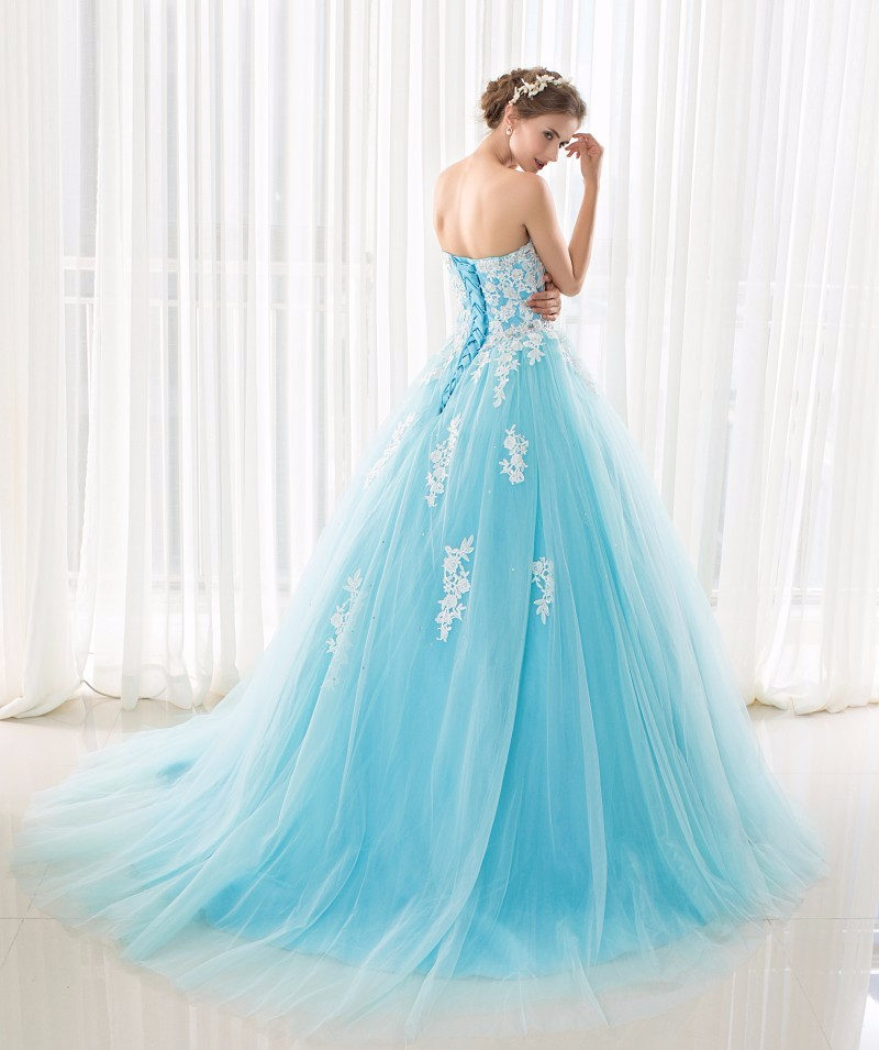 Image 5 - In Stock Sweetheart Blue Quinceanera Dresses Ball Gowns With  Appliques Lace Up Sweet 16 Dresses Vestidos De 15 Years Party Gowns15  years partyvestidos de 1515 years