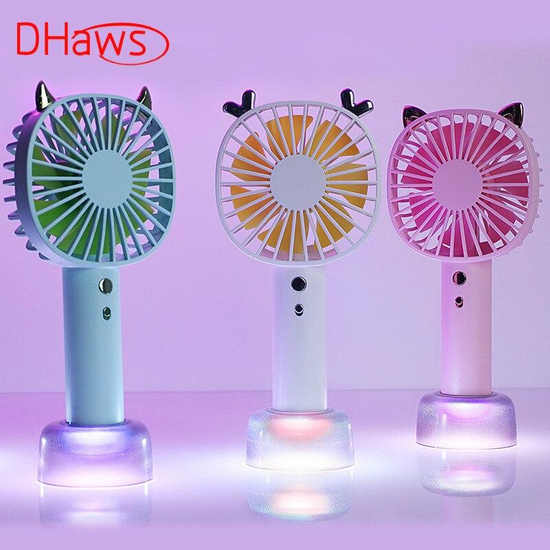 Dhaws Tragbare Mini Fan Handheld Lüfter Luftkühler Usb Lade Schreibtisch Fan Tisch Fan 3 Geschwindigkeit Einstellung Fan Für Student Kinder Kataloge Werden Auf Anfrage Verschickt