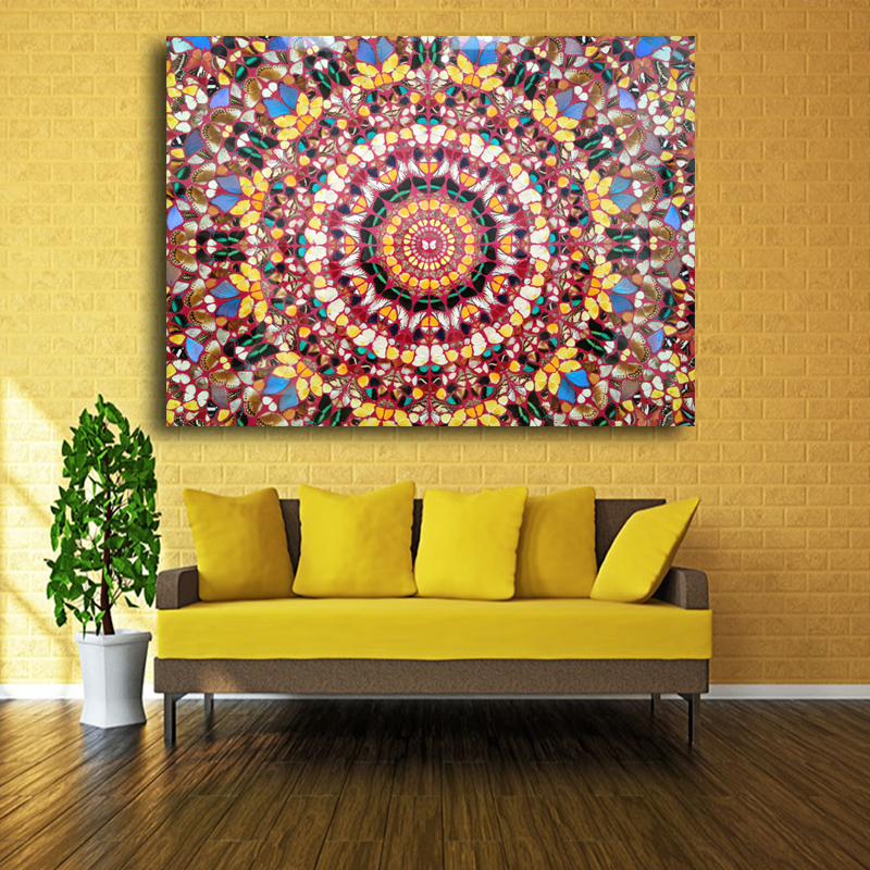 2017 Decoracion Free Shipping Yayoi Kusama Frameless Paintings gifts ...