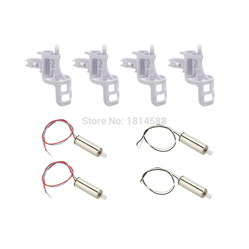 Original Syma X5C Parts 2 Pairs Motor + 4pcs Motor Base Cover for SYMA X5C X5C-1 X5 RC Quadcopter запчасти и аксессуары для радиоуправляемых игрушек no syma x 5 x5c new