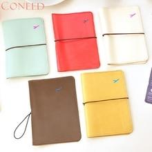 CONEED New Travel Leder Passhülle Kartenetui Schutzhülle Brieftasche Tasche D26W30x