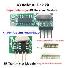 433 ميجا هرتز Superheterodyne RF جهاز إرسال واستقبال وحدة تسأل أطقم مع هوائي لاردوينو uno Diy كيت 433 ميجا هرتز التحكم عن بعد