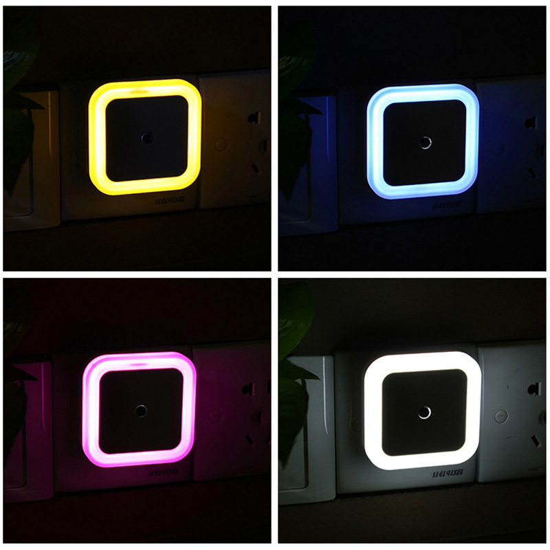 LED Night Light With Sensor Toilet Light Control US EU Plug Wall Lights Baby Bedroom Bedside Lamp Bulb Backlight For WC