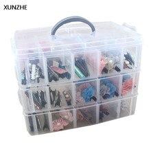 XUNZHE 1 шт. прозрачная пластиковая емкость для хранения коробка 3 слоя Съемная отделочная коробка Multi-function ювелирные изделия Винты разное Органайзеры