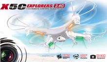 Syma x5c 2.4G 4CH 6-Axis aerial RC Helicopter Quadcopter Toys multirotor mini Drone With Camera Free express Shipping
