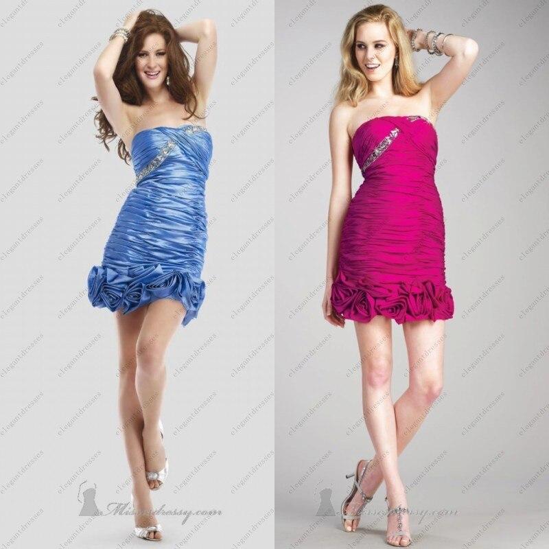 Cheap fuchsia cocktail dresses