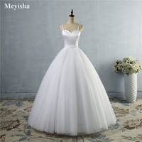 ZJ9086 Spaghetti Strap Beach Wedding Dress 2018 Vestido Noiva Praia Simple White Tulle Casamento Sashes Bridal