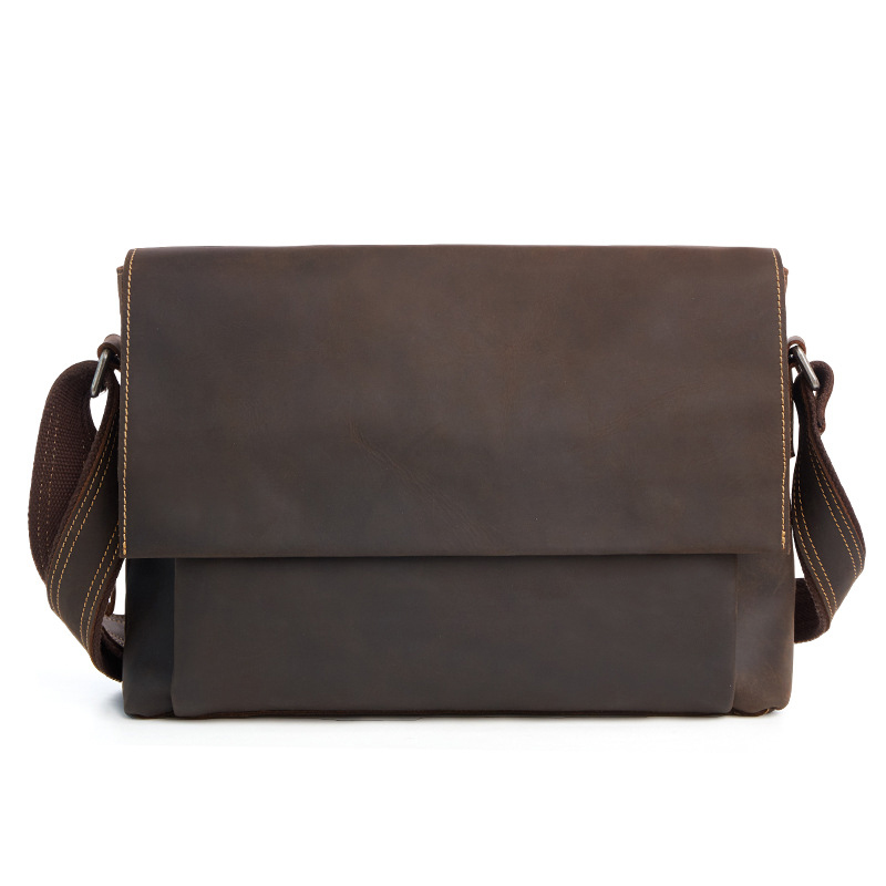 Fashion Male Messenger Bag Men Genuine Leather Shoulder Bag Famous Brand Business Briefcase Crossbody Bag for Men Document Bag