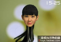 1/6 scale figure doll head shape for 12
