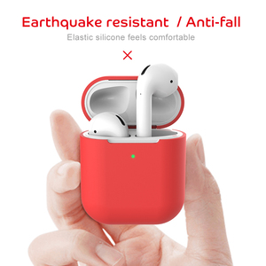 Image 4 - Funda protectora de silicona para AirPods 2, a prueba de golpes, para Apple AirPods