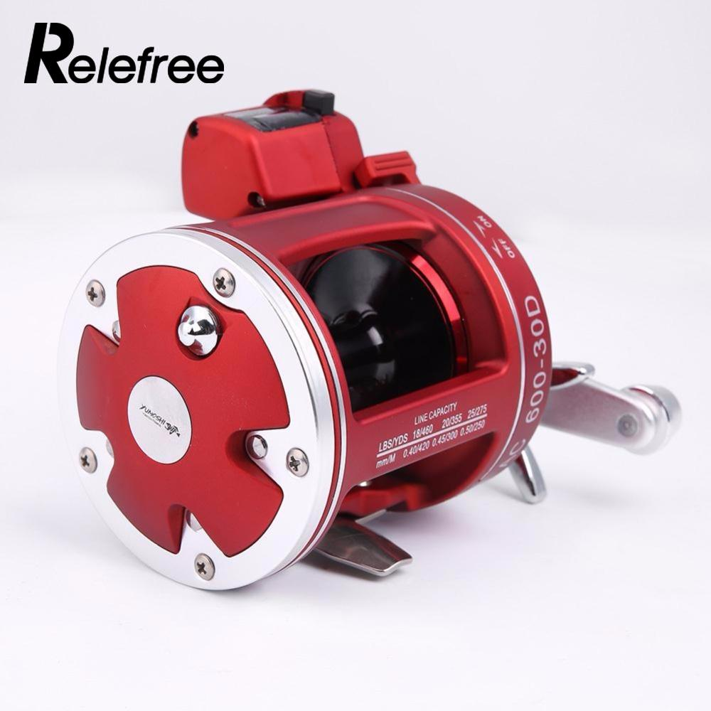 Relefree 11+1BB Fishing Trolling Reels Right Handle Outdoor Bait Wheel Reel Rod Line Handed-Round Big-Game 30 with Count free shipping original 10 1 bearing magnetic brake bait casting reel gun handle lure fishing rod reels