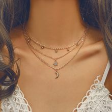 Women Clothing fashion Accessories Necklace gold long Convenient Collocation Collarbone Chain pendants choker femme 2010(China)