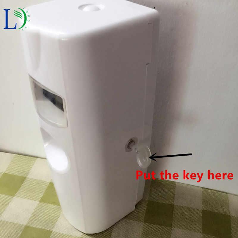 2018 LCD cyfrowy dozownik aerozoli automatyczny odświeżacz powietrza do domu ściany na ścianie zamontowany wc odświeżacz Auto 300 ml dozownik do perfum
