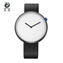 ABBYGALE Brand Watches New Simple White Dial Ladies Wristwatches Analog Women's Casual Quartz Watches Leather Strap Gifts