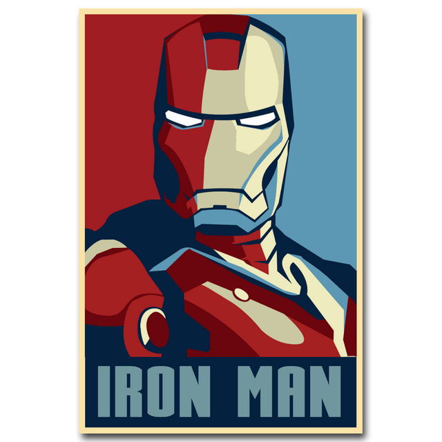 Iron Man Silk Fabric Poster