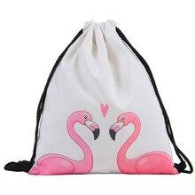 Backpack Drawstring 3D Cat Printing Bags Bag Travel Women Dily Casual Mochila Feminina