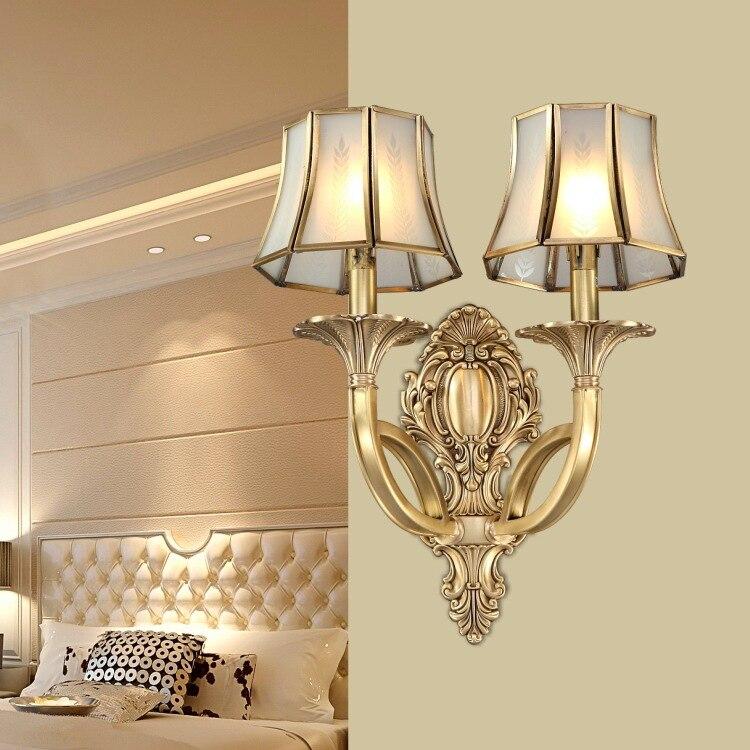 Новое поступление, хит продаж, роскошный Европейский стиль, медная настенная лампа, освещение для гостиной, роскошная настенная лампа, бесп