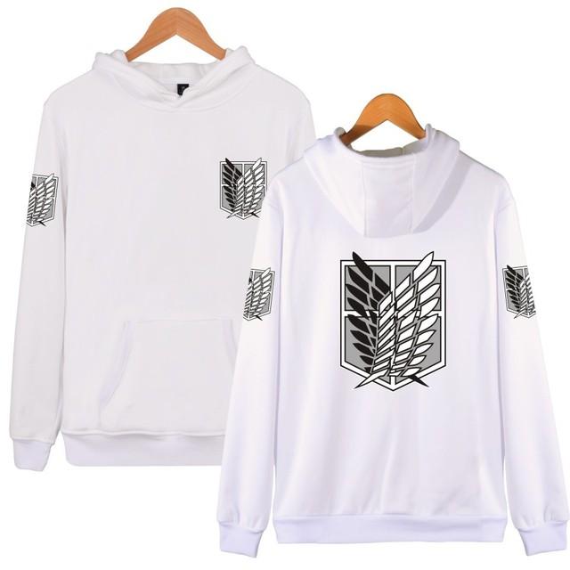 Attack On Titan Harajuku Hooded Sweatshirt Recon Corps Design Hoodie