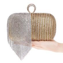 2016 neue Quaste Kupplung Kristall Diamanten Frauen Tasche Süße Damen Einzelne Schulter Bag Fashion Messenger Bags Hochzeit Partei Geldbörsen