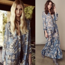Women lusted barcelona floral santa rose maxi dress ladies love silk summer maxidress seaside soie holiday bench dresses