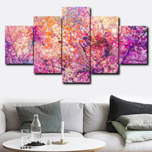 Graffiti Flower 5 Panel Vintage Abstract Posters and Prints Wall Art Canvas Painting for Living Room Bedroom Wedding