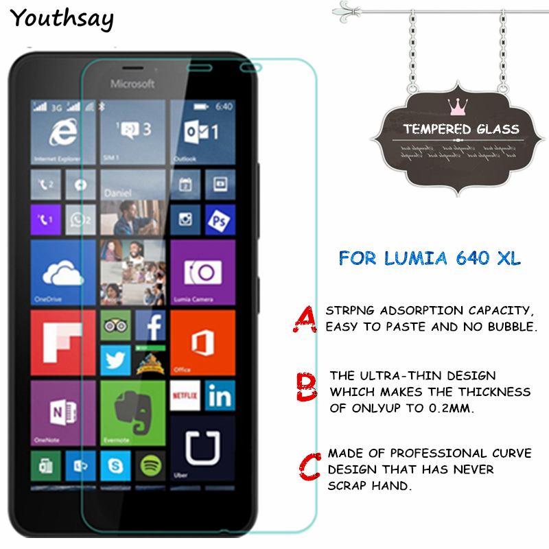 2pcs For Glass Lumia 640 Xl Tempered Glass For Screen Protector Lumia 640 Xl Glass For Lumia 640xl Protective Film Youthsay