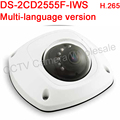 Многоязычная версия DS-2CD2555F-IWS 5MP WDR Купольная Сетевая Камера Поддержка H.265, POE, IP66, IK08, ИК 10 М, Аудио, Wi-Fi