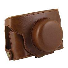 HFES for FUJIFILM X30 Fujifilm digital camera dedicated PU leather camera case with shoulder belt (brown)