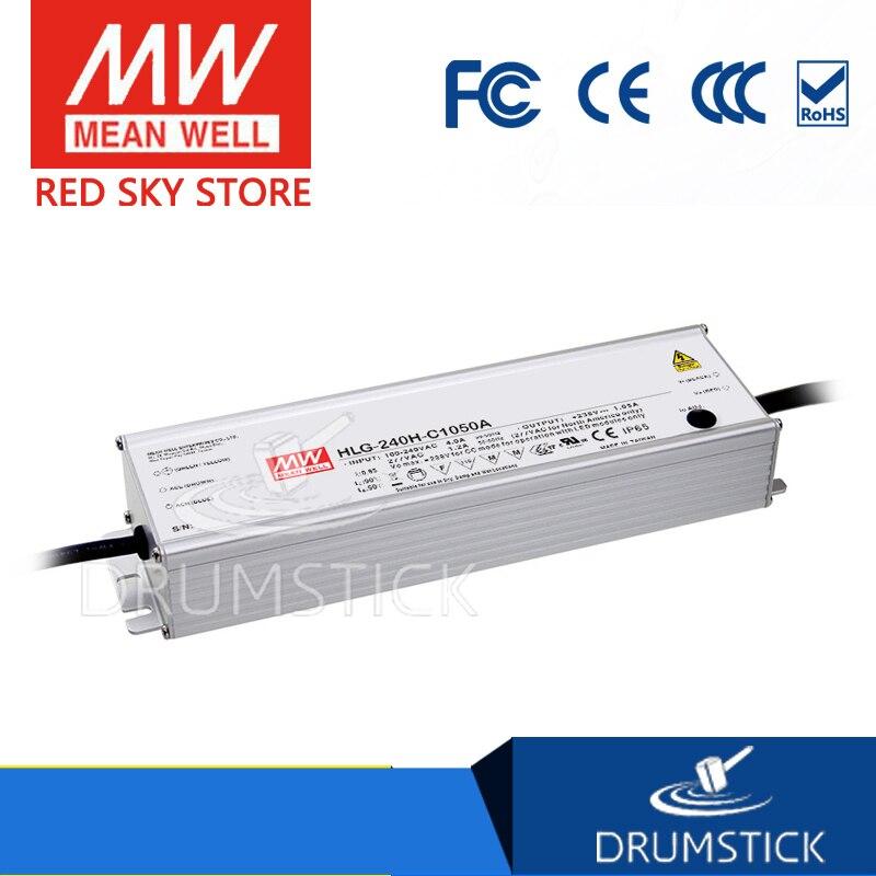 все цены на (Only 11.11)MEAN WELL original HLG-240H-C1400A (2Pcs) 89 ~ 179V 1400mA meanwell HLG-240H-C 250.6W LED Driver Power Supply A Type онлайн