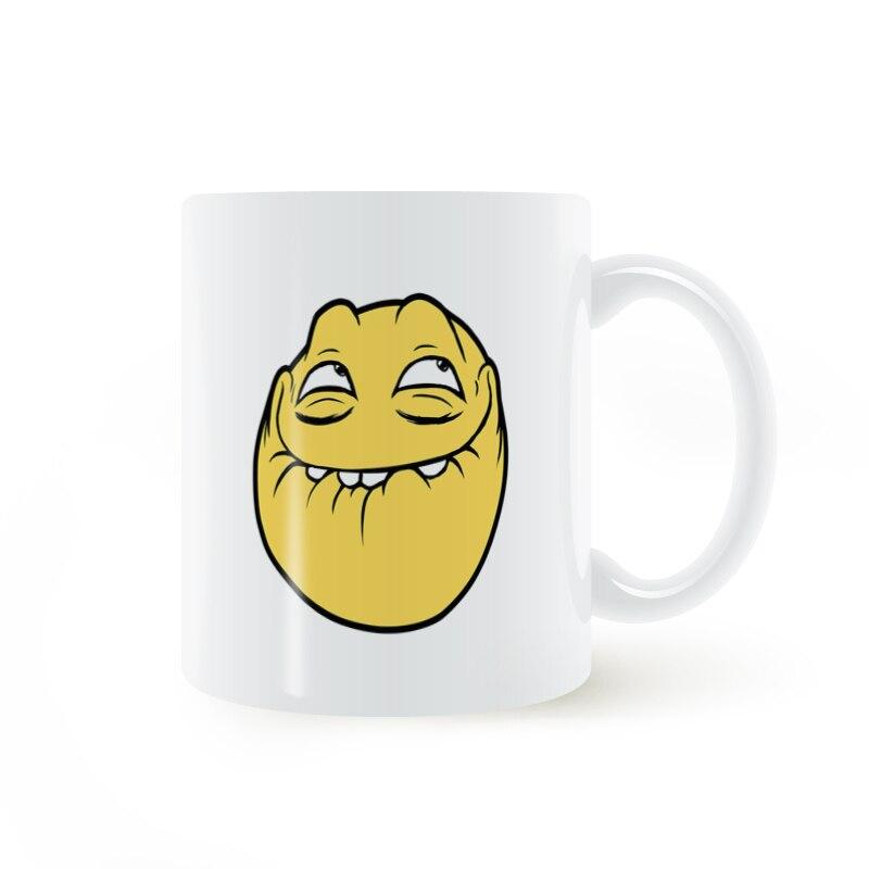 Emoji Yellow face smile expression Mug Coffee Milk Ceramic Cup Creative DIY Gifts Home Decor Mugs 11oz T927