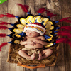 Indian Infant 0 3months Hand Knit Wool Hat Crochet Outfits Warm Newborn Baby Photography Clothes One