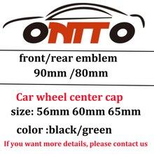 4 шт. 56 мм 60 мм 65 мм черный/зеленый центральный колпачок колеса 80 мм 90 мм Передняя Задняя эмблема капот багажник